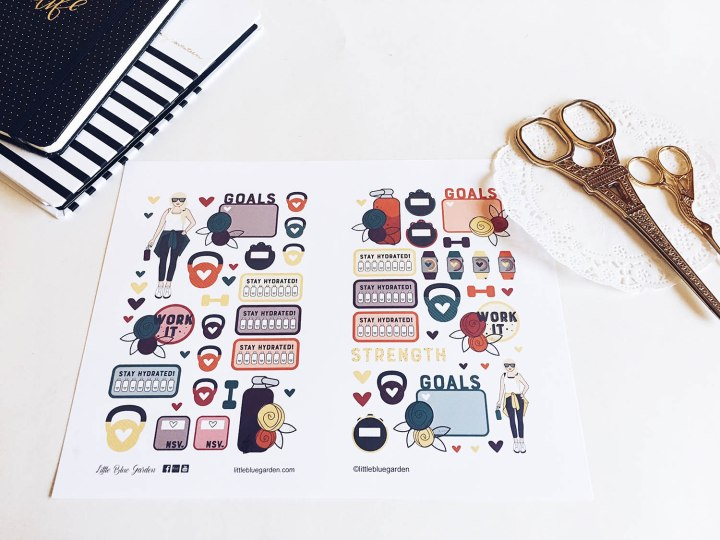Sneak Peek Wednesday: Fitness Girls StickerBook