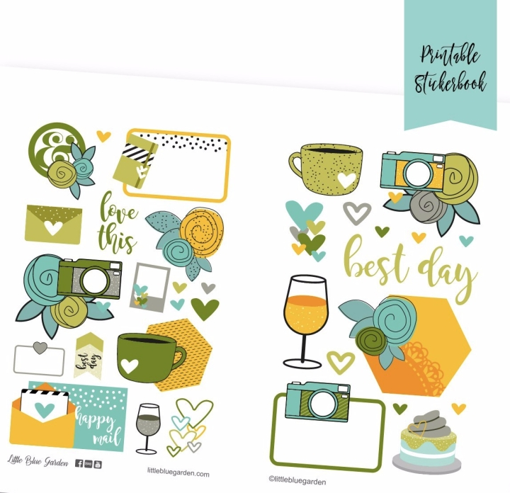Design Spotlight Tuesdays: Sun Kissed Floral Deco Sticker Book