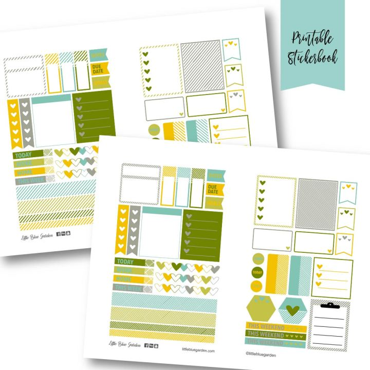 Design Spotlight Tuesdays: Hello Stripes Sticker Book