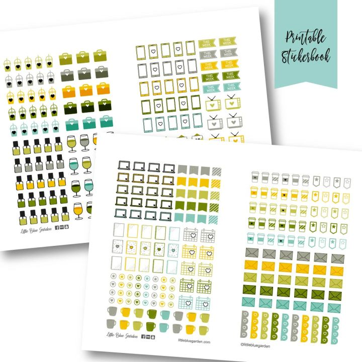 Design Spotlight Tuesdays: Mini Small Daily Sticker Book